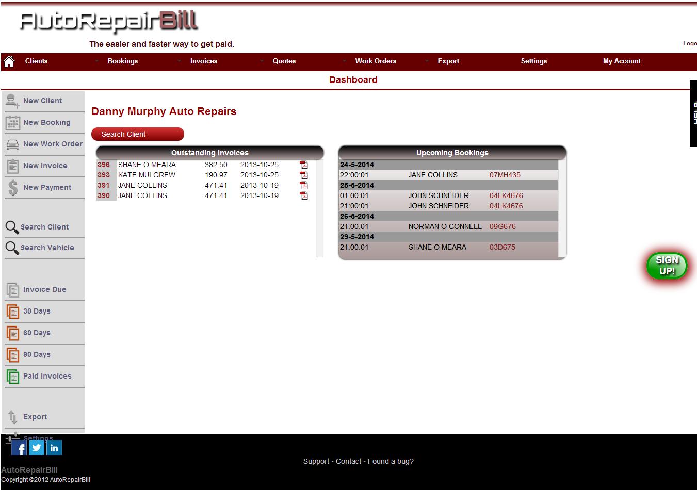 Auto repair invoice software free trial automotive invoicing