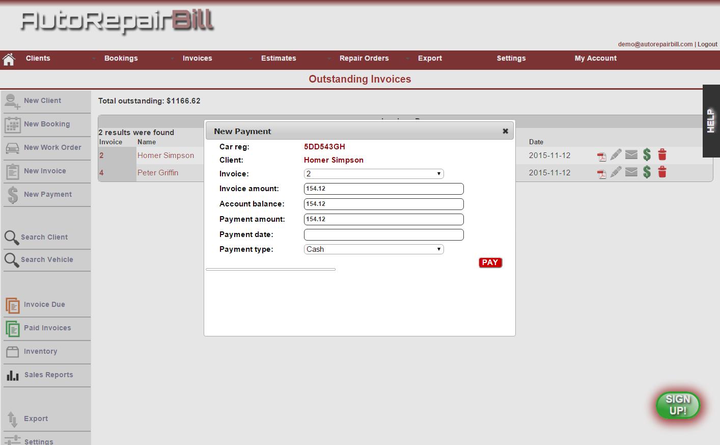 Auto Repair Software Easy Use Auto Repair Shop Software - Free auto repair shop invoice software for service business